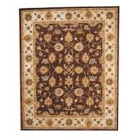 Handmade Herat Oriental Indo Isfahan Wool Rug (India) - 8' x 10'