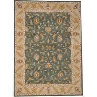 Herat Oriental Indo Hand-tufted Isfahan Wool Rug (8' x 11') - 8' x 11'