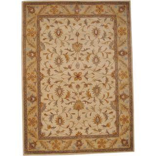 Herat Oriental Indo Hand-tufted Isfahan Wool Rug (8' x 11')