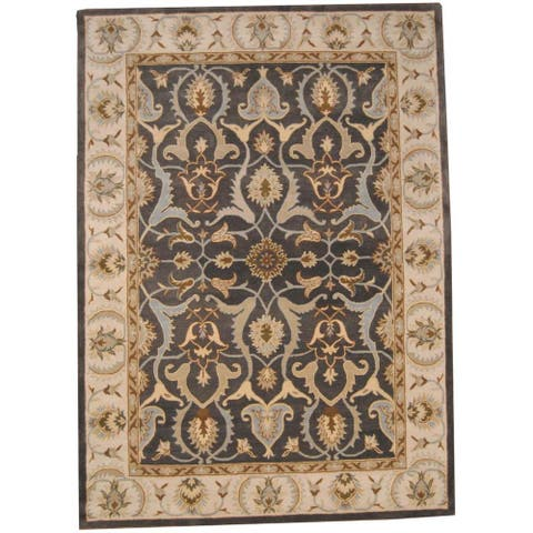 Handmade Oushak Wool Rug (India) - 8' x 11'