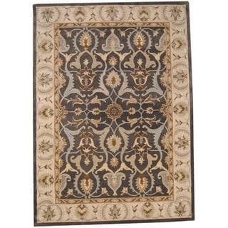 Herat Oriental Indo Hand-tufted Oushak Wool Rug (8' x 11')