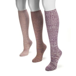 Muk Luks Women's Marl Knee-high Socks (Pack of 3)