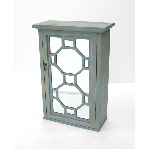 Teton Home Geometric Distressed Wood Cabinet (California)  sc 1 st  Overstock.com : antiquing wood cabinets - Cheerinfomania.Com