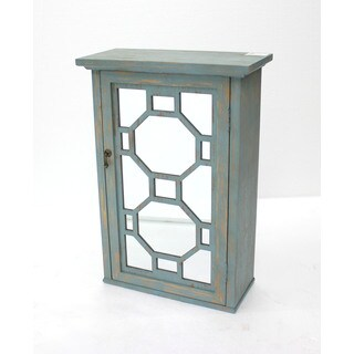 Teton Home Geometric Distressed Wood Cabinet (California)