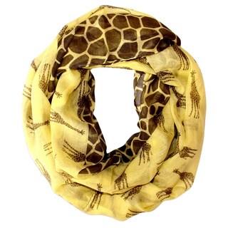 Animal Print Giraffe Infinity Loop Scarf