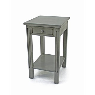 Teton Home Grey Wood Accent Table
