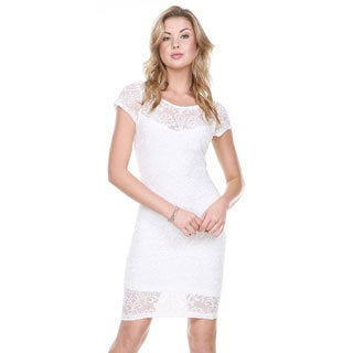 Stanzino Women's Ivory Fully Lined Cocktail Dress