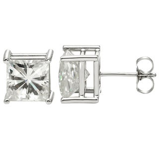 Charles & Colvard 14k White Gold 2.40 TGW Square Brilliant Classic Moissanite Stud Earrings