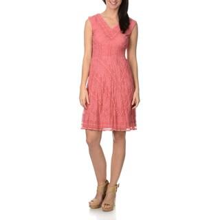 Rabbit Design Women's Lace Overlay Dress
