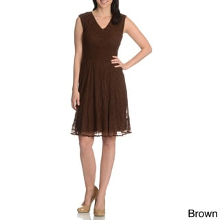 Rabbit Design Women's Lace Overlay Dress