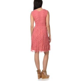 Rabbit Design Women's Lace Overlay Dress (More options available)