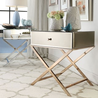 Camille X Base Mirrored Accent Campaign Table by iNSPIRE Q Bold (2 options available)