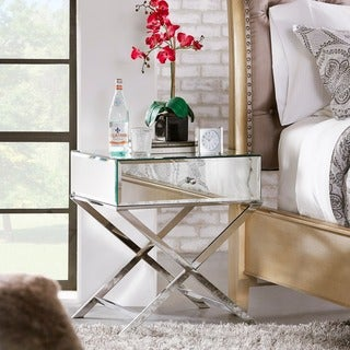 Camille X Base Mirrored Accent Campaign Table by INSPIRE Q