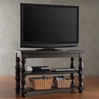 SIGNAL HILLS Huntington Baluster Weathered Brown Shelf TV Stand