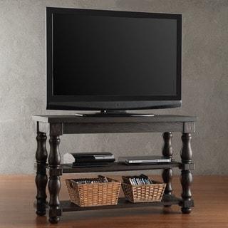 SIGNAL HILLS Huntington Baluster Weathered Brown Shelf TV Stand