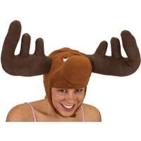 Velvet Antlers Moose Hat Christmas