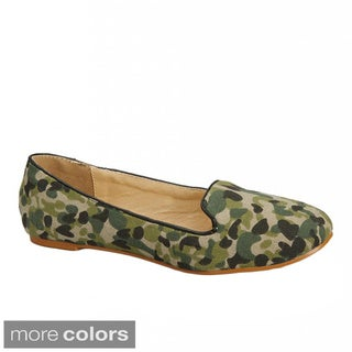 Nichole Simpson Army Patterned Ballet Flat