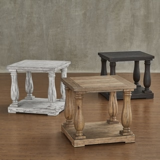 Edmaire Rustic Baluster End Table by SIGNAL HILLS