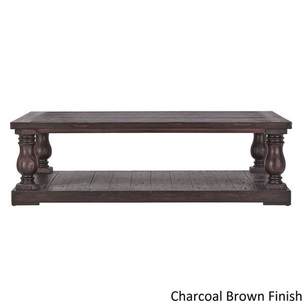 Edmaire Rustic Baluster 60inch Coffee Table by iNSPIRE Q Artisan