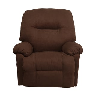 Offex Contemporary Calcutta Chocolate Microfiber Rocker Recliner