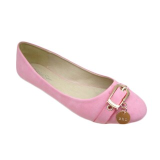 Nichole Simpson Women's Buckle Ornament Ballet Flats
