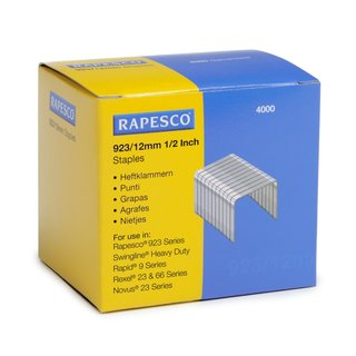 Rapesco 923 Series Heavy Duty 1/2-inch Staples (Box of 4000)