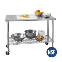 Seville Clics Stainless Steel Work Table