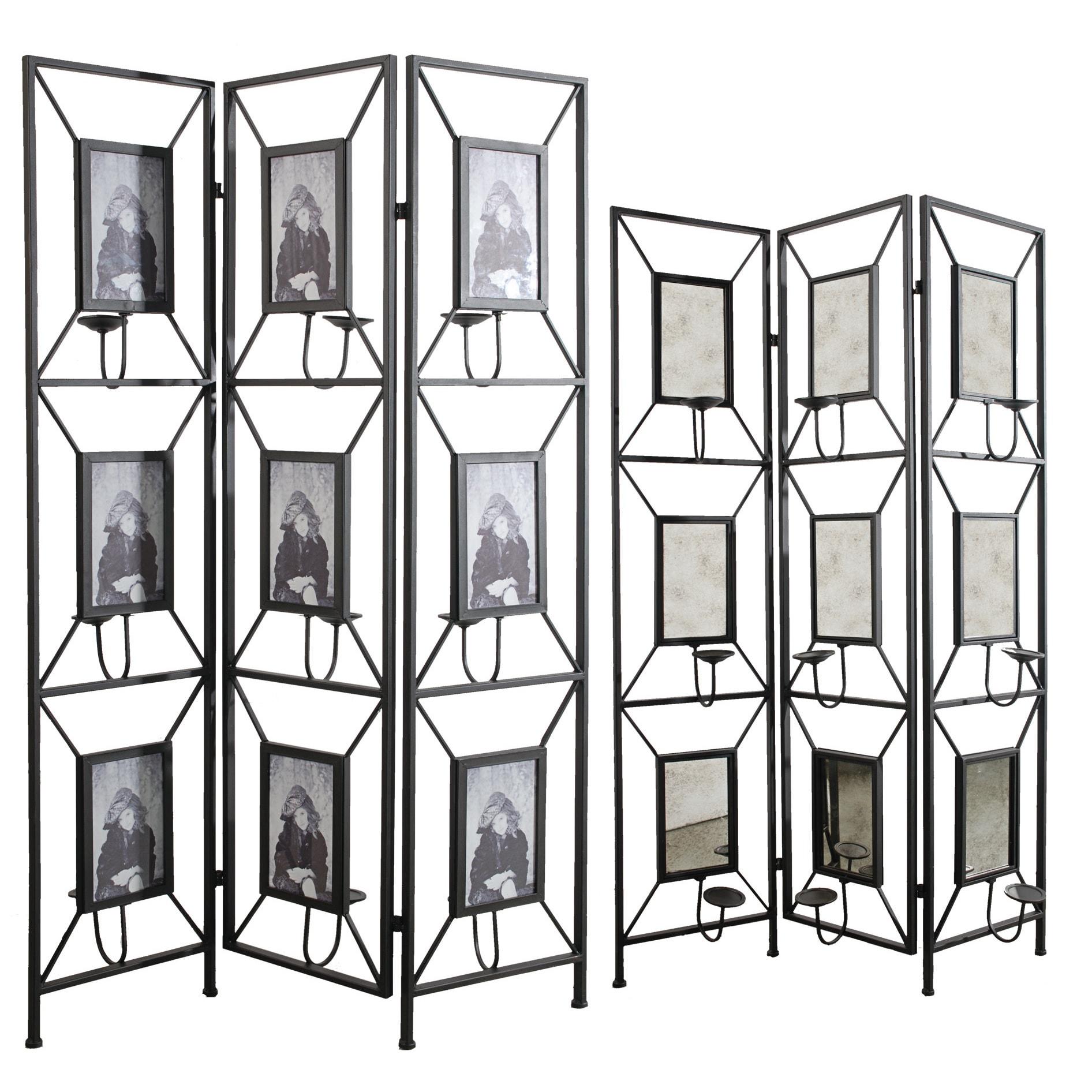 "Maddox photo frame room divider (47.2x71"" Screen), Black"