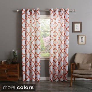 Aurora Home Morrocan 84-inch Semi-Sheer Curtain Panel Pair (3 options available)