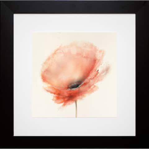 J.P. Prior 'Chiffon Poppy' Framed Artwork