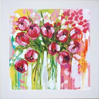 Amanda J Brooks 'Razzle Dazzle Tulips' Framed Artwork