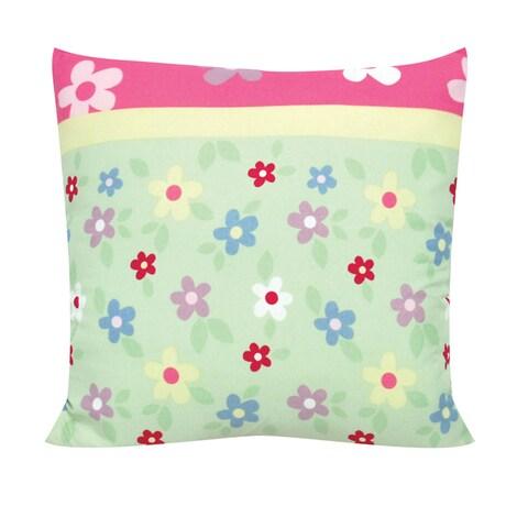 Garden Floral 14-inch Decorative Throw Pillow