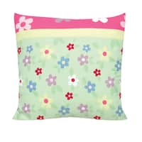 Garden Floral 14-inch Decorative Throw Pillow