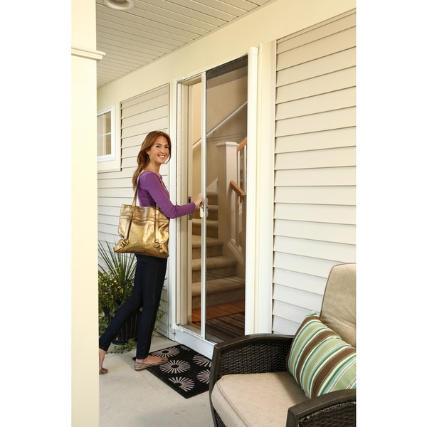 ODL Brisa White Tall Retractable Screen Door - Free Shipping Today - Overstock.com - 16986368  sc 1 st  Overstock & ODL Brisa White Tall Retractable Screen Door - Free Shipping Today ... pezcame.com