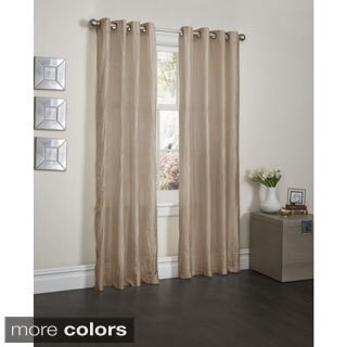 Sherry Crushed Satin 84-inch Curtain Panel Pair - 52 x 84
