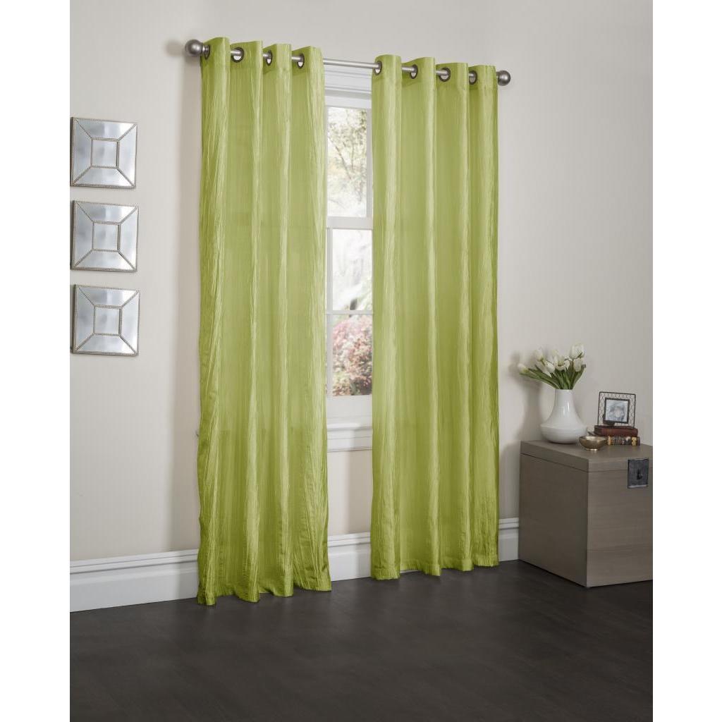 Kashi Sherry Crushed Satin 84-inch Curtain Panel Pair (Li...