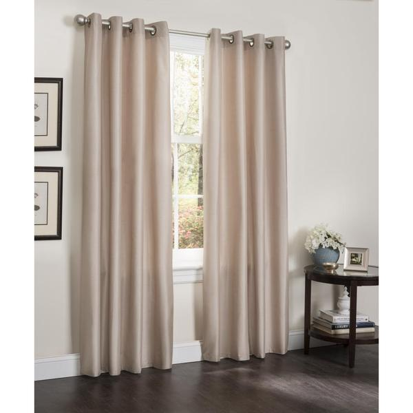 Shop Erin Faux Silk Insulated Blackout 90-inch Curtain
