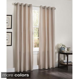 Erin Faux Silk Insulated Blackout 90-inch Curtain Panel Pair
