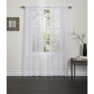 Lisa 84-inch Rod Pocket Sheer Curtain Panel Pair