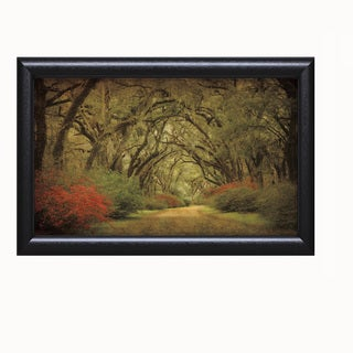 William Guion 'Road Lined With Oaks and Flowers' Framed Artwork