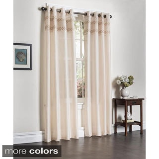 Rio Faux Silk 90-inch Curtain Panel Pair