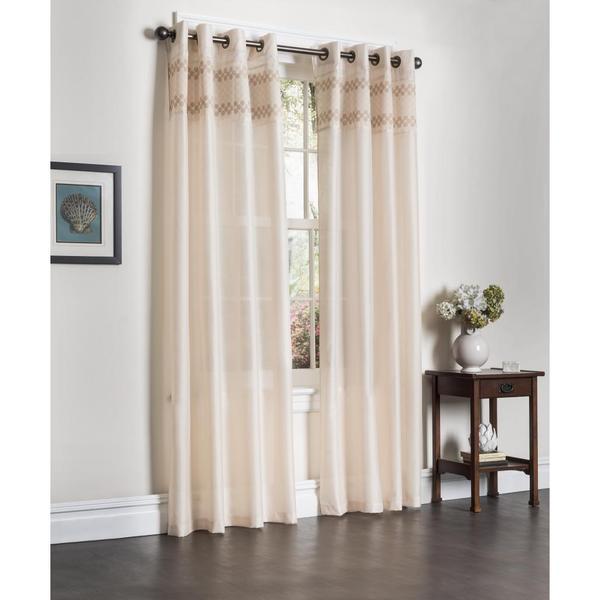 Shop Rio Faux Silk 90-inch Curtain Panel Pair