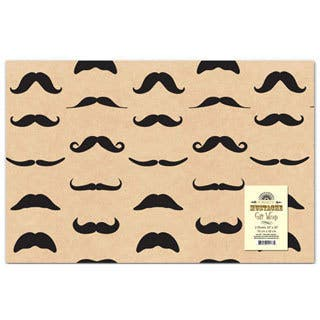 Tan Mustache Wrapping Paper|https://ak1.ostkcdn.com/images/products/9821671/P16986475.jpg?impolicy=medium