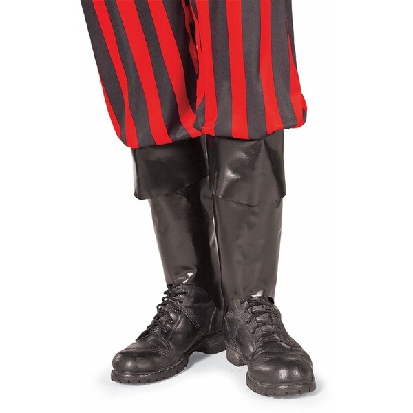 Black Plastic Pirate Boot Top Costume Accessory