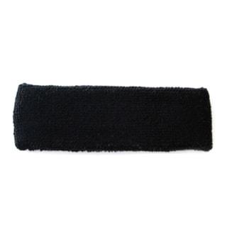 Black Terry Cotton Headband