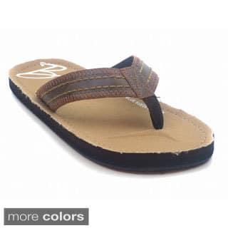 Blue Mens 'M-Fouler' Beach Flip Flop Sandals|https://ak1.ostkcdn.com/images/products/9821790/P16986550.jpg?impolicy=medium