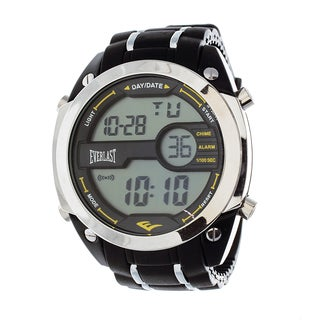 Everlast Diver Jumbo Men's Digital Black Rubber Strap Watch