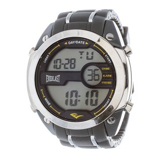 Everlast Diver Jumbo Men's Digital Grey Rubber Strap Watch