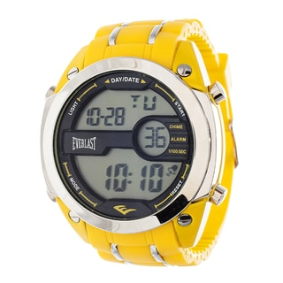 Everlast Diver Jumbo Men's Digital Yellow Rubber Strap Watch
