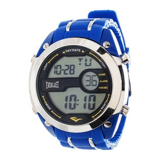 Everlast Diver Jumbo Men's Digital Blue Rubber Strap Watch